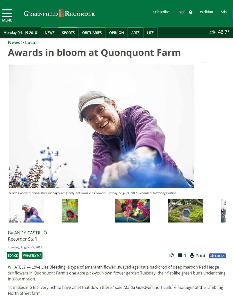 Quonquont in the News – Quonquont Farm